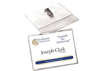 Avery® Top Loading Clip Style Name Badges, 2 1/4' x 3 1/2'