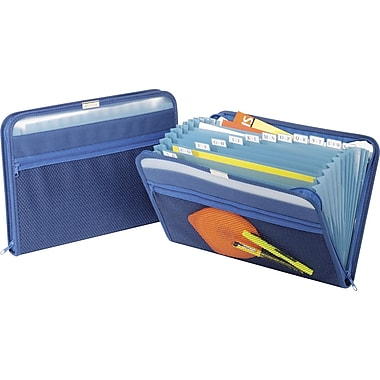 Globe-Weis® Fabric Poly Expanding Files, Letter, Royal Blue, Each