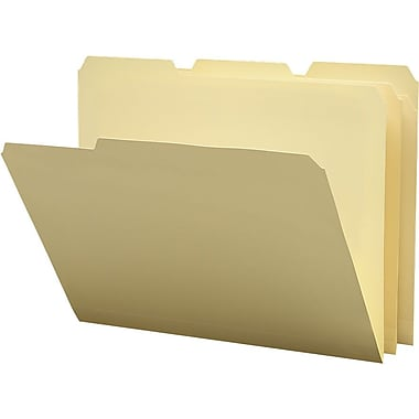 Staples® Poly Manila File Folders, Letter, 3 Tab, 12/Pack