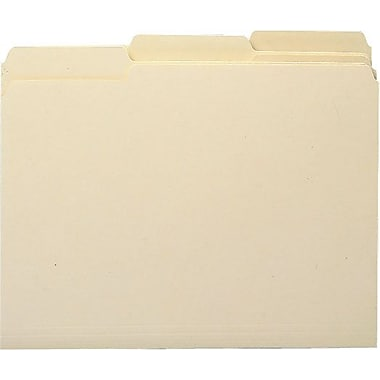 Smead® Antimicrobial Top-Tab Folders, Letter, 3 Tab, 100/Box