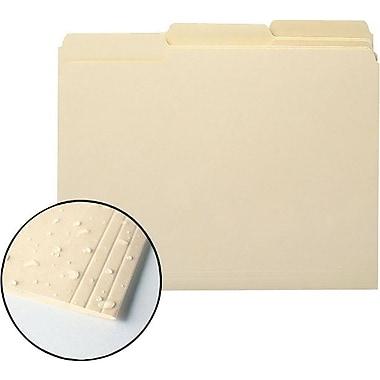 Smead® Reinforced File Folders, Moisture-Resistant Manila, Letter, 3 Tab, 100/Box