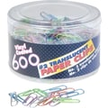 OIC® #2 Size Translucent Paper Clips, Smooth, 600/Pack