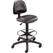 Safco® Precision Extended Height Drafting Swivel Stool, Faux Leather, Black