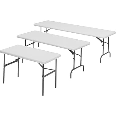 Iceberg Utility-Grade Resin Folding Banquet Tables, 24in.W