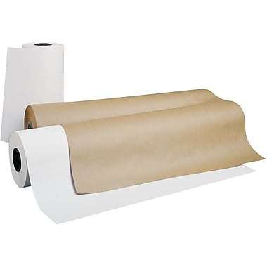 Pacon  Kraft Wrapping Rolls, 36in.W x 1000'L, White Kraft