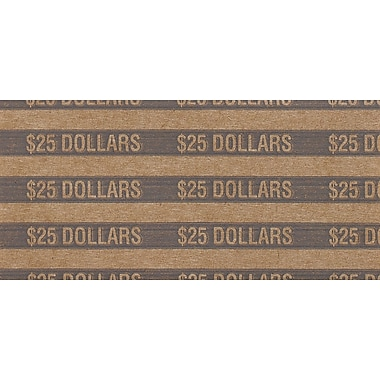 MMF Industries™ Flat Tubular Dollar Coin Wrappers, Gray, $25