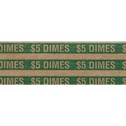 MMF Industries™ Flat Tubular Dime Wrappers, Green, $5