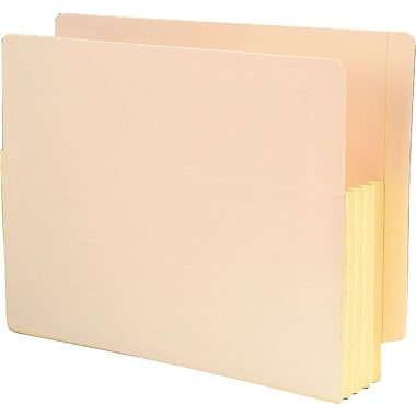 Smead® End-Tab Manila Expanding File Pockets, Letter, 3 1/2in. Expansion, 25/Box