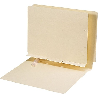 Smead Plain Self-Adhesive Folder Dividers, Letter, 100/Box