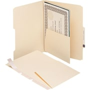 Smead® Self-Adhesive Folder Dividers w/ Pockets, Letter, 25/Box