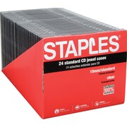Staples® Standard CD Jewel Case, 24/Pack