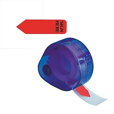 Redi-Tag® Red Reversible in.Sign Herein. Flags with Dispenser, Each