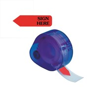 "Redi-Tag® Red ""Sign Here"" Flags with Dispenser, Each"