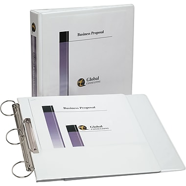 Avery Flip Back 1.5 Inch Round 3-Ring View Binder, White (17590)