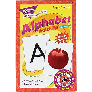 Trend Enterprises Match Me Cards, Alphabet