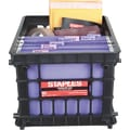 Staples® File Storage Crates, Black