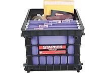 Staples® File Storage Crates, Black