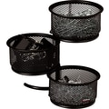 Rolodex Black Mesh Three-Tier Clip Dish