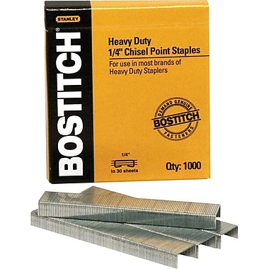 Stanley Bostitch® Heavy-Duty Premium Staples , 1/4in.