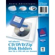 Avery® Self-Adhesive Media Pockets, CD/DVD/Zip