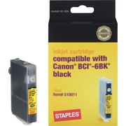Staples® Remanufactured Ink Cartridge Compatible with Canon® BCI-6BK, Black