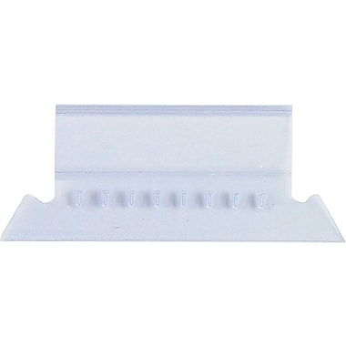 Staples® Plastic Clear Tabs, 3-1/2in. x 5/8in., 50/Pack