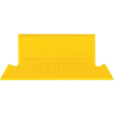 Staples® Plastic Tabs, Yellow, 2in. x 5/8in., 25/Pack