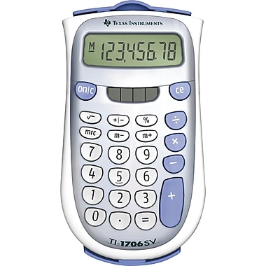Texas Instruments TI-1706SV 8-Digit Display Calculator
