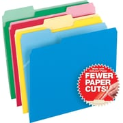 Pendaflex® CutLess® File Folders, Letter, 3 Tab, Assorted Colors, 100/Box
