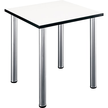 Bush Business Aspen 28-1/2W Square Table, White Spectrum
