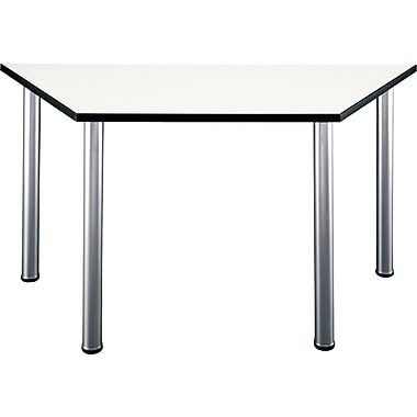Bush Aspen 57in. Trapezoid Laminate Conference/Training Room Table, White