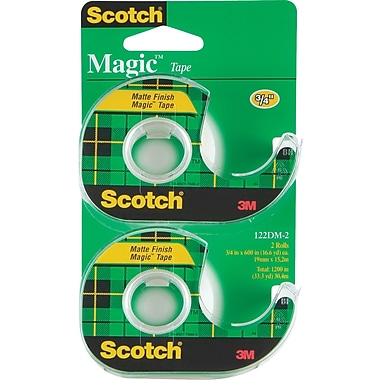 Scotch Magic Tape with Handheld Dispenser Refill - 3/4in. x 16.6yd - 2/pack