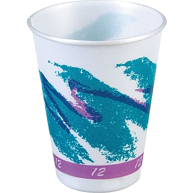 SOLO Trophy Jazz Hot/Cold Foam Cups, 12 oz., 100/Pack