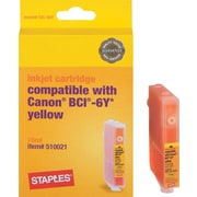 Staples® Remanufactured Ink Cartridge Compatible With Canon BCI-6Y, Yellow
