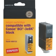Staples® Remanufactured Black Inkjet Cartridge Compatible with Canon® BCI-3eBK