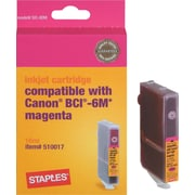 Staples® Remanufactured Ink Cartridge Compatible with Canon® BCI-6M, Magenta