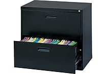 MBI 400S Series Lateral File Cabinet, Black