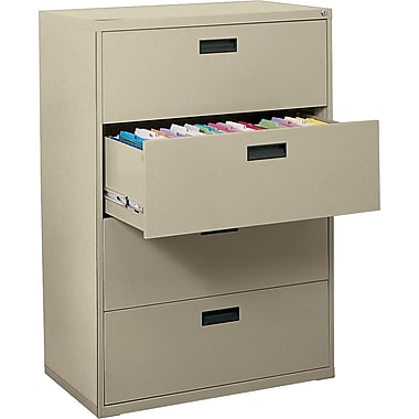MBI 400S Series Lateral File Cabinet, 30in. Wide, 4-Drawer, Putty