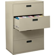 MBI 400 Series Lateral File Cabinet, 36in. Wide, 4-Drawer, Putty