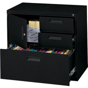 MBI 4-in-1 Lateral/Storage File Cabinet, 30in.Wide, 3-Drawer, Black