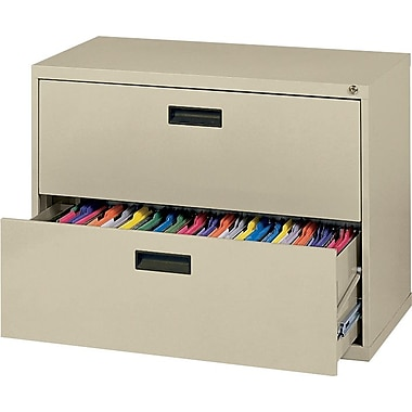 MBI 400 Series Lateral File Cabinet, 36in. Wide, 2-Drawer, Putty
