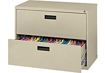 MBI 400S Series Lateral File Cabinet, 30' Wide, 2-Drawer, Putty