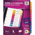 Avery® Ready Index® 11071 Table of Contents Divider, Multicolor
