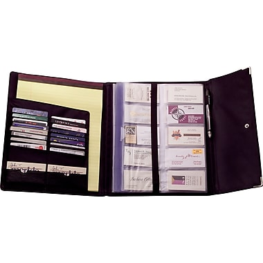 Rolodex® 240-Card Black Faux Leather Business Card Book