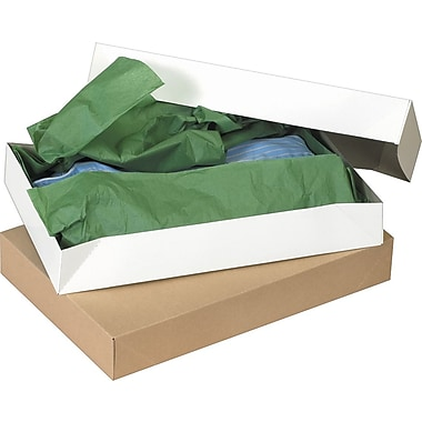 Staples® White Apparel Boxes, 17in. x 11in. x 2 1/2in.