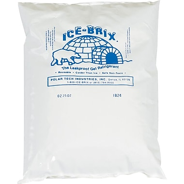 06in.(L) x 5-3/4in.(W) x 1in.(H), Staples® Ice-Brix™ Cold Packs