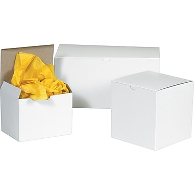 1 Piece Gift Boxes, 7in. x 7in. x 7in., White
