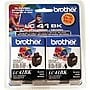Brother LC41BK Black Ink Cartridges, 2/Pack