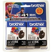 Brother Black Ink Cartridges, 2/Pack (LC-41BK2PK)