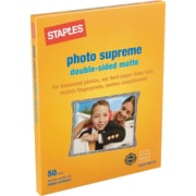 Staples® Photo Supreme Paper, 8 1/2 x 11, Double Sided Matte, 50/Pack